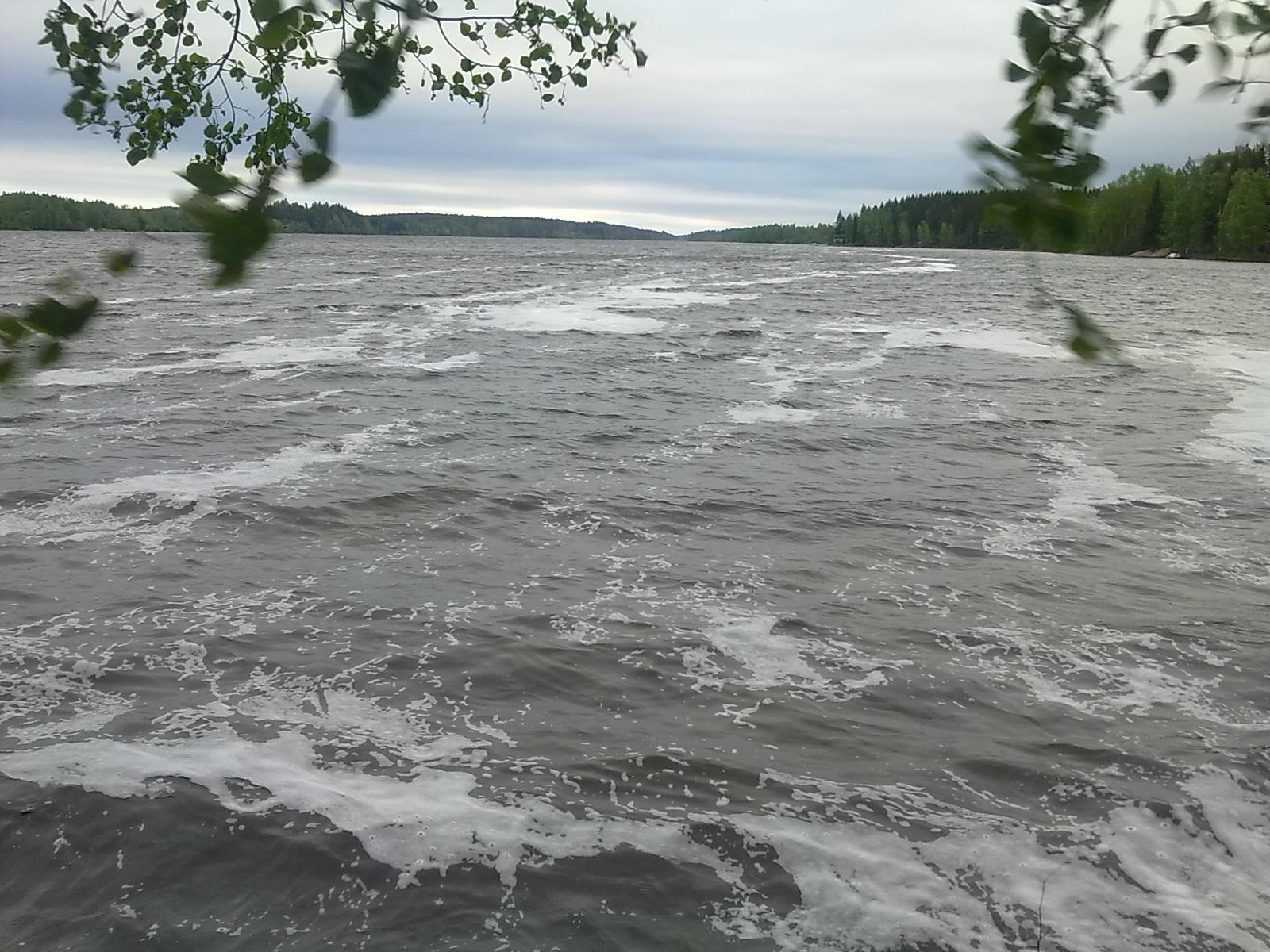 Kyrösjärvi kuohuaa, Kuva: Johanna Luotolinna