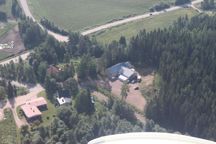 Kovelahden keskus ilmasta käsin (kuva: Johanna Luotolinna)
