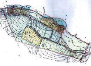 Karttakuva Sipsiön kylän ranta-asemakaavasta ja muutoksesta.