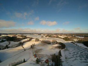 Talvinen maisemakuva.
