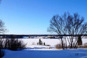 Kaunis talvinen maisema.